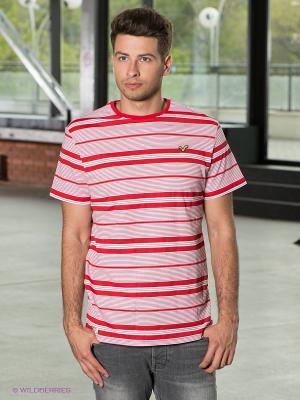 Футболка VOI JEANS. Цвет: красный, белый