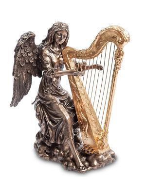Статуэтка Ангел, играющий на арфе Veronese. Цвет: бронзовый