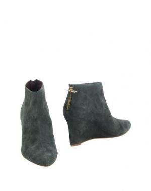 Полусапоги и высокие ботинки AVRIL GAU. Цвет: темно-зеленый