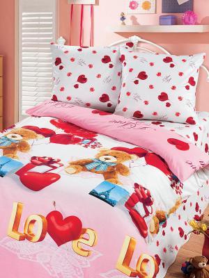 Постельное белье Арт Постель. Цвет: розовый, синий, красный