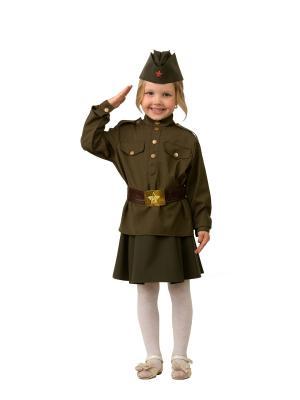Карнавальный костюм Солдатка Батик. Цвет: коричневый