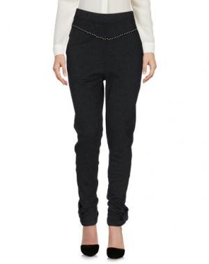Повседневные брюки FEDERICA TOSI. Цвет: стальной серый