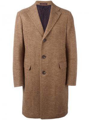 Пальто с заостренными лацканами The Gigi. Цвет: коричневый