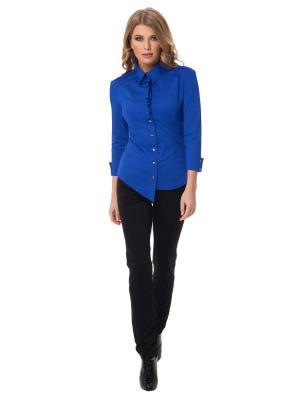 Рубашка Gloss. Цвет: синий