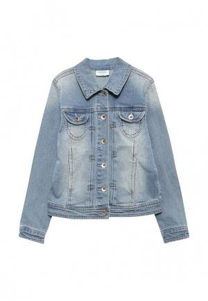Куртка джинсовая Acoola. Цвет: голубой