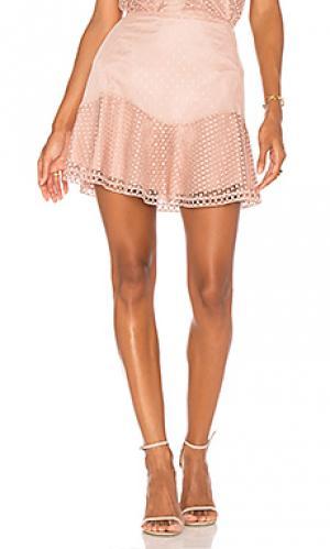 Комбинированная юбка samantha Karina Grimaldi. Цвет: румянец