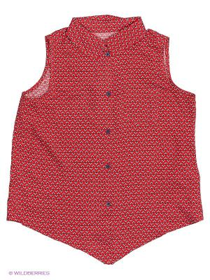Блузка КАЛIНКА. Цвет: красный