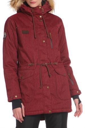 Сноубордическая куртка с ветрозащитной планкой Stayer. Цвет: бордовый, вишневый