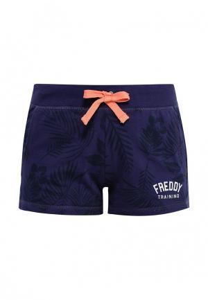 Шорты спортивные Freddy. Цвет: синий