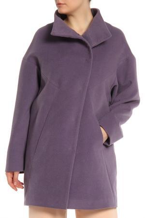 Пальто КОРУ-СТИЛЬ. Цвет: фиолетовый