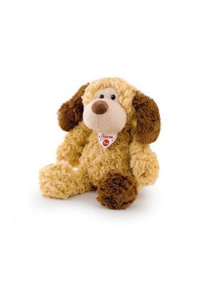 Мягкая игрушка Собачка с трикотажной вставкой, 28 см. TRUDI. Цвет: коричневый