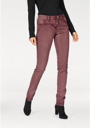 Джинсы Aniston. Цвет: бордовый