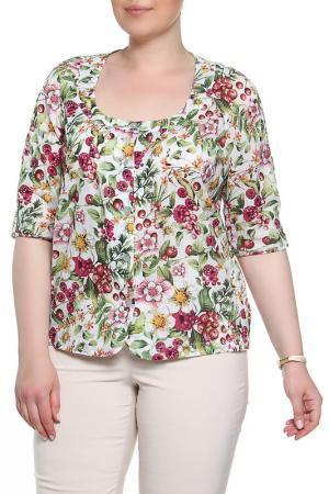 Блузка BERKLINE. Цвет: бело-розовый