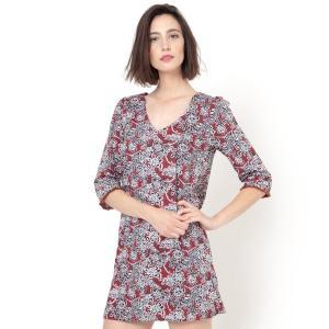 Платье с рисунком Cornélia SUNCOO. Цвет: набивной рисунок