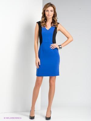 Платье Remix. Цвет: синий, черный