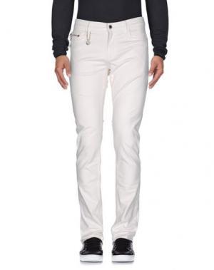 Джинсовые брюки COSTUME NEMUTSO. Цвет: белый