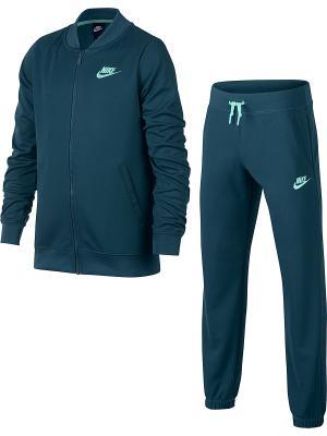 Спортивный костюм G NSW TRK SUIT TRICOT Nike. Цвет: синий, светло-зеленый