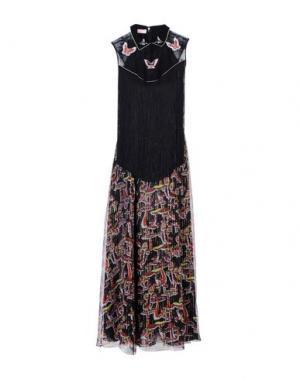 Длинное платье GIAMBA. Цвет: черный
