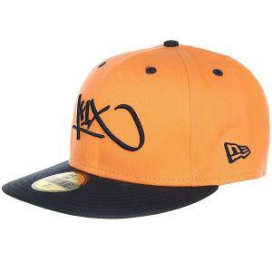 Бейсболка с прямым козырьком  Tag Logo 59/50 Light Orange K1X. Цвет: оранжевый,черный