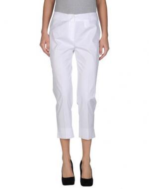 Повседневные брюки METRADAMO. Цвет: белый