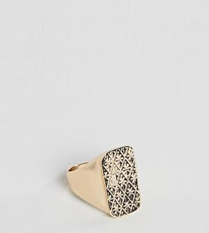 Reclaimed Vintage Золотистое кольцо-печатка inspired эксклюзивно для A. Цвет: золотой
