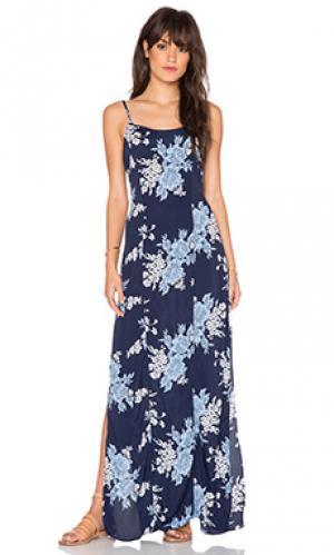 Платье-комбинация bijou Privacy Please. Цвет: синий