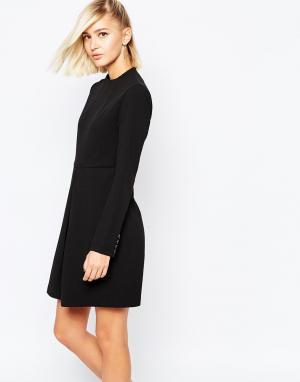The Laden Showroom Платье с пуговицами на манжетах X Meekat. Цвет: черный