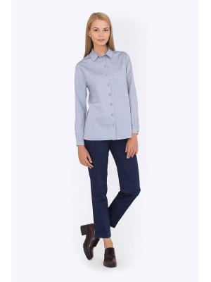 Блузка EMKA FASHION. Цвет: серый, красный, синий