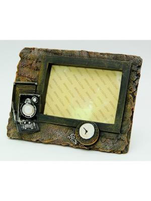 Декоративная фоторамка РЕТРО-ФОТО Magic Home. Цвет: темно-коричневый, бронзовый