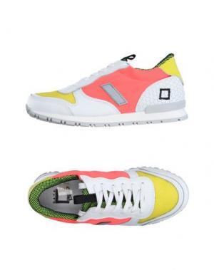 Низкие кеды и кроссовки D.A.T.E. KIDS. Цвет: коралловый