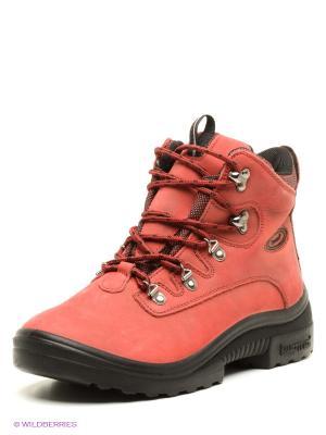 Ботинки KUOMA. Цвет: красный