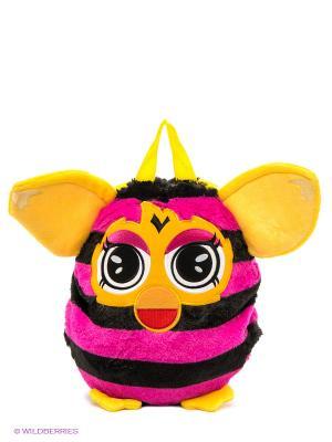 Плюшевый рюкзак Furby. Цвет: фуксия, желтый