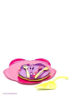 Набор для десерта Zak!designs. Цвет: фуксия, салатовый, фиолетовый