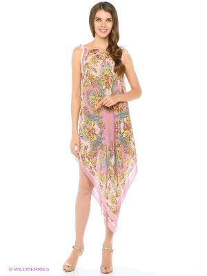 Туника текстильная Vittorio Richi. Цвет: бежевый, розовый