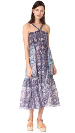 Платье Sunshine Warm. Цвет: пестрый с преобладанием фиолетового