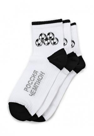 Комплект носков 3 пары John Jeniford. Цвет: разноцветный
