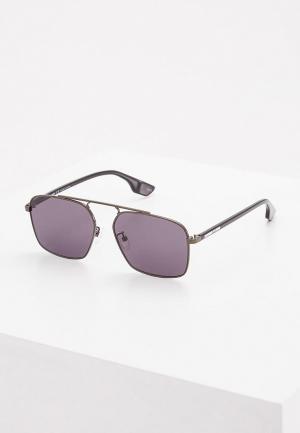 Очки солнцезащитные McQ. Цвет: серый