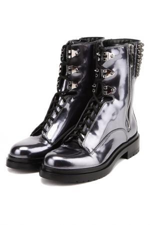 Ботинки Sergio Rossi. Цвет: металл