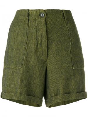 Твидовые шорты Forte. Цвет: зелёный