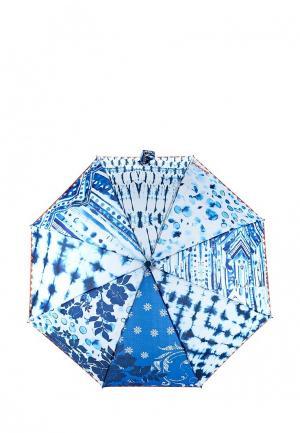 Зонт складной Desigual. Цвет: синий