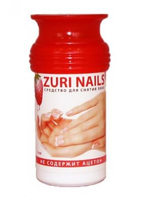 Цилиндр для снятия лака ZuriNails Zuri nails. Цвет: красный, белый