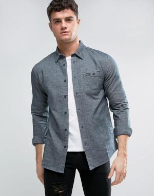 RVCA Фланелевая рубашка с накладным карманом. Цвет: серый