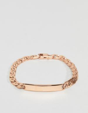 MISTER Золотисто-розовый браслет. Цвет: золотой