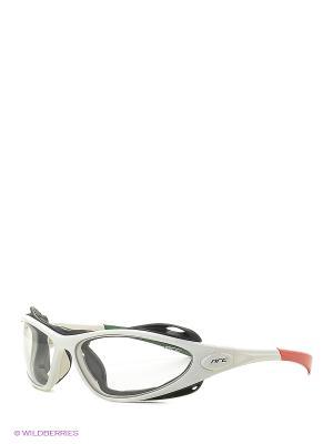 Солнцезащитные очки NRC. Цвет: серебристый, оранжевый