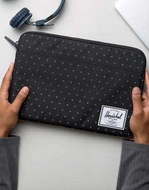 Herschel Supply Co Чехол для Macbook с диагональю 13 Anchor. Цвет: черный