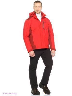 Куртка PRISMA JACKET MEN Jack Wolfskin. Цвет: красный