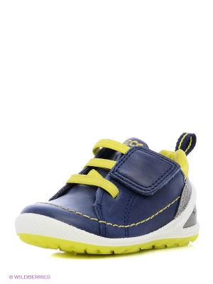 Кеды ECCO. Цвет: синий, желтый
