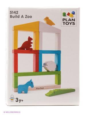 Построй Зоопарк PLAN TOYS. Цвет: белый