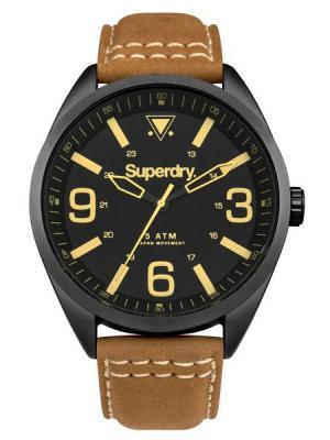 Часы Superdry. Цвет: коричневый