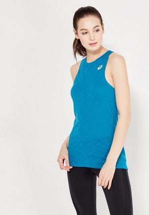 Майка спортивная ASICS. Цвет: синий